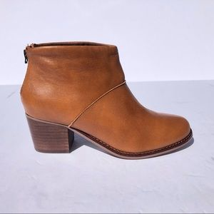 Toms Leila Warm Tan Leather Bootie
